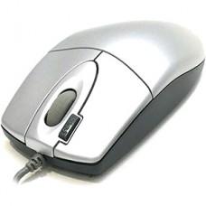 Мышь A4Tech OP-620D, серебристая, USB
