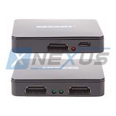 Разветвитель HDMI 1 - 2 19F/2x19F, пластиковый корпус, REXANT [17-6951]
