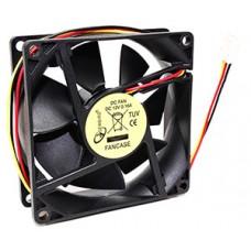 Вентилятор 80x80x25 для СБ питание 3pin от MB [Gembird FANCASE]