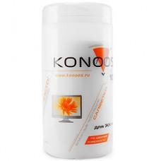 Салфетки чистящие влажные Konoos KBF-100 для ЖК-экранов в банке 100 шт. [12]