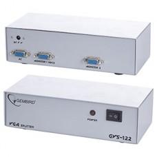 Разветвитель VGA Gembird 1 комп - 2 монитора [GVS-122]