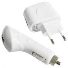 Зарядное устройство Gembird USB для порт. уст-в+адаптер питания, 1000мА от сети, белое [MP3A-UC-AC4]