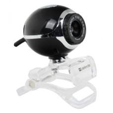 Веб-камера Defender C-090 черная 0.3Mpix, USB, универ. крепление