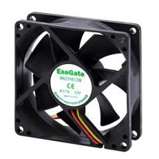 Вентилятор 80x80x25 для СБ, 3pin от MB, гидродин. подш., 2200об./мин Exegate [8025M12H/253948]