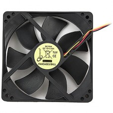 Вентилятор 120x120x25 для СБ питание 3pin от MB [Gembird FANCASE3/BALL], подшипник