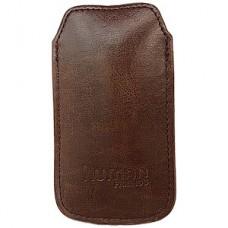 Чехол Human Friends Business 5 Brown для iPhone 5/5s/5c, кожзам., ремешок-стропа