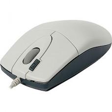 Мышь A4Tech OP-620D, белая/синяя, USB