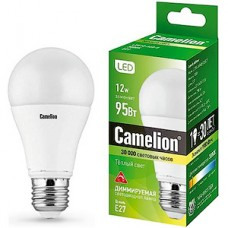Лампа LED Camelion E27/A60 груша, 12W, 3000K, 1100Лм [LED12-A60-D/830/E27] (диммер)
