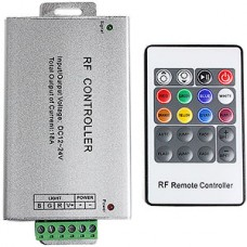 Контроллер ленты LED RGB, 12/24В, 3*6А, радио пульт 20 кнопок [RF-RGB-20-18A]