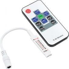 Контроллер ленты LED RGB мини, 5-24В, 3*2А, радио пульт [RF-RGB-10-6A]