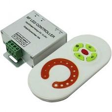 Диммер LED, 12/24В MAX 10А, радио сенсорный пульт, белый, 84*56*23