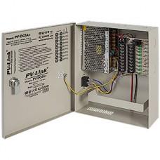 Блок питания PV-Link PV-DC5A+, 12В/5А стабилиз., 9 выходов, выход на АКБ, внутренний, защита