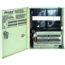 Блок питания PV-Link PV-DC10A+, 12В/10А стабилиз., 18 выходов, выход на 2 АКБ, внутренний, защита