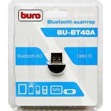 Адаптер USB Bluetooth BURO BU-BT40A, до 20 метров, ver 4.0+EDR class 1.5 (для аккустики)