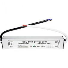 Блок питания  25W, 12V, IP67, металл, влагозащищенный, SmartBuy [SBL-IP67-Driver-25W]