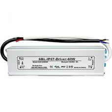 Блок питания  60W, 12V, IP67, металл, влагозащищенный, SmartBuy [SBL-IP67-Driver-60W]