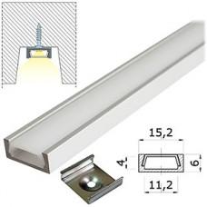 Профиль накладной 2000*16*6mm, комплект с экраном, SmartBuy [SBL-Al16x6]