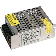 Блок питания  25W, 12V, IP20, металлическая сетка [S-25-12]