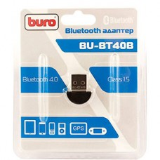 Адаптер USB Bluetooth BURO BU-BT40B, до 20 метров, ver 4.0+EDR class 1.5 (для смартфонов/ПК)