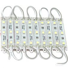 Модуль LED 3хSMD5050, 12В, 0.72W, 7500-8000K, 54-60Лм, IP65, 78*15*4.5, провод 15см