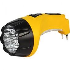 Фонарь аккумуляторный 15+10LED, с прямой зарядкой, желтый, Smartbuy [SBF-89-Y]