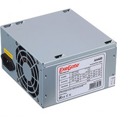 Блок питания 400W ExeGate ATX-AA400, 8cm fan, 24+4pin, 2*SATA, IDE