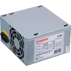 Блок питания 450W ExeGate ATX-AA450, 8cm fan, 24+4pin, 2*SATA, 2*IDE