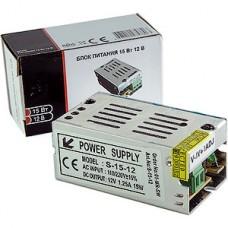 Блок питания  15W, 12V, IP20, металлическая сетка [S-15-12]
