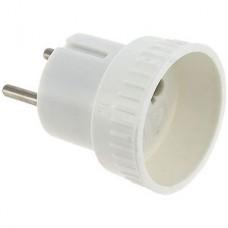 Переходник сетевой без заземления 6А, белый, SmartBuy [SBE-06-S05-w]