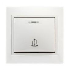 Кнопка звонка с/у 10А, с индикатором, SmartBuy