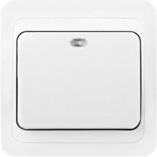 Выключатель с/у 1-кл 10А, с индикатором, SmartBuy