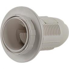 Патрон E27 пластиковый с кольцом, белый, SmartBuy [SBE-LHP-sr-E27]