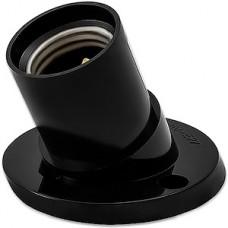 Патрон E27 карболитовый настенный наклонный, черный, SmartBuy [SBE-LHB-w-E27]