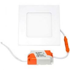 Светильник встраиваемый квадратный,  6W, 6000K-6500K, 390Лм, 120*120/110*13, IP20, LP SLPL-S