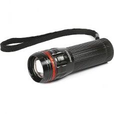 Фонарь ZOOM 3W, 3xAAA, черный пластик красная вставка, Smartbuy [SBF-305-3ААА]