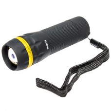 Фонарь ZOOM 3W, 3xAAA, черный пластик желтая вставка, Smartbuy [SBF-306-3ААА]