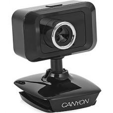 Веб-камера CANYON CNE-CWC1, 1.3Mpix, с микрофоном, настольная подставка/крепл. на монитор, USB