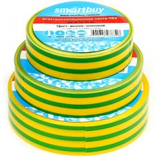 Изолента ПВХ 15мм*10м*0.13мм, желто-зеленая, SmartBuy [SBE-IT-15-10-yg]