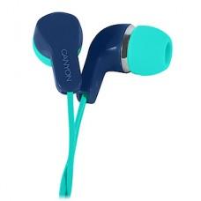 Гарнитура CANYON CNS-CEPM02GBL, вкладыши, зелено-голубая, каб. 1.2м