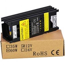 Блок питания  60W, 12V, IP20, узкий, металлическая решетка, черный [LY-60-12]