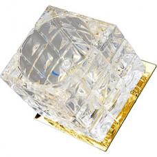 Светильник встраиваемый для ламп GU5.3/MR16, d55, ELVAN [CT-634-CL-GD] прозрачный