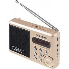 Радиоприемник Perfeo  Sound Ranger 3-in-1, FM, MP3, USB, microSD, Line In,  шамп.золот [PF-SV922AU]