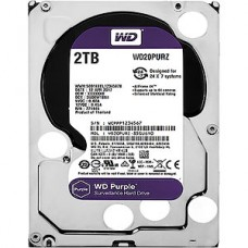 Жесткий диск 2.0Tb WD WD20PURZ Purple SATA-III 5400rpm 64Mb, для видеонаблюдения