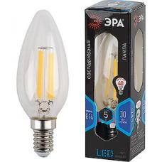 Лампа LED ЭРА E14/B35 свеча,  5W, FILAMENT, 4000K, 400Лм [F-LED B35-5W-840-E14]