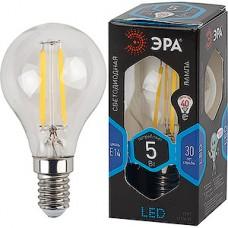 Лампа LED ЭРА E14/P45 шар,  5W, FILAMENT, 4000K, 400Лм [F-LED P45-5W-840-E14]