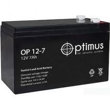 Батарея для UPS 12В/7Aч, Optimus [OP1207] [5]