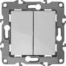 Выключатель с/у 2-кл 10А, без м.лапок, ЭРА12 [12-1004-01] белый