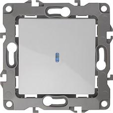 Выключатель с/у 1-кл с подсветкой 10А, ЭРА12 [12-1102-01] белый