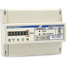 Счетчик электроэнергии 3-фазный 1-тарифный Энергомера ЦЭ6803В, 1 5-60A 3*230/400В М7, P31, DIN