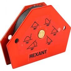 Магнитный держатель угольник для сварки, на 6 углов, усилие 11,3кг REXANT [12-4831]